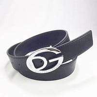 Perfect D&G Woman Fashion Smooth Buckle Belt Leather Belt