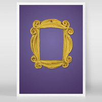 Friends TV Show Minimalist Poster | Yellow Apartment Door Frame | Friends Print | Friends TV Show