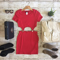 Love Buzz Dress-Red