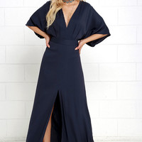 Modern Form Navy Blue Maxi Dress