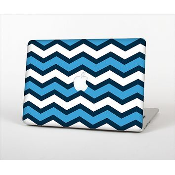 """The Blue Wide Chevron Pattern Skin Set for the Apple MacBook Air 13"""""""