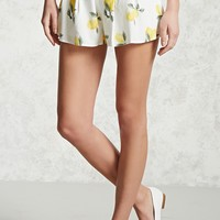 Lemon Graphic Pleated Shorts