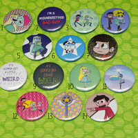 """Star vs the Forces of Evil pin buttons - 37 mm/1,46"""""""