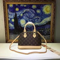LV Louis Vuitton WOMEN'S MONOGRAM LEATHER ALMA HANDBAG SHOULDER BAG