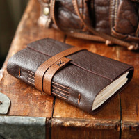 Leather Journal - The Traveler - Brown Handmade Travel Journal