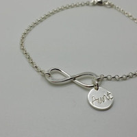 Infinity Bracelet with Aunt Charm -Gift for Sister, Gift for Aunt, GIft for Aunt, Aunt to Be