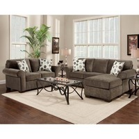 Chelsea Home Worcester 2 Piece Living Room Set Chaise in Elizabeth Ash
