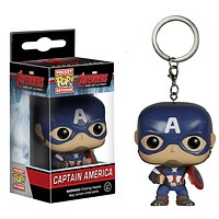 FUNKO POP New arrival Marvel Keychain Pocket Pop Keychain Captain America The Avengers Action Figure Collectible Model Toys Gift|Action & Toy Figures