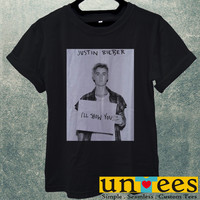 Low Price Men's Adult T-Shirt - Justin Bieber I Will Show You design