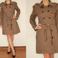 Trench coat for Women Drape Sleeve in Taupe for Women