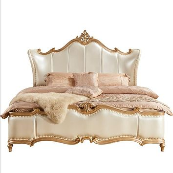 Antique Style Royal Wooden Bed