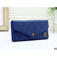 LV 2019 new female flip cover clutch purse card holder #2