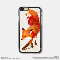 Watercolor fox Free Shipping iPhone 6 6 Plus case iPhone 5s case iPhone 5C case 146