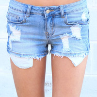 Destroy Lining Cutoff Shorts {L. Wash}