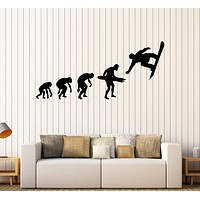 Vinyl Wall Decal Snowboarding Evolution Extreme Sport Teenager Art Stickers Unique Gift (260ig)