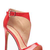 Liliana Red Wrapped Patent Heels