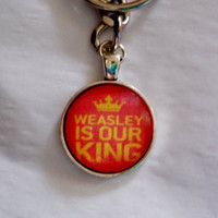Ron Weasley Keychain. Weasley Is Our King Harry Potter Inspired Keychain.