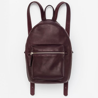 Leather Backpack Oxblood
