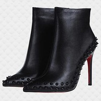Christian Louboutin Women Fashion Casual Heels Shoes Boots-36