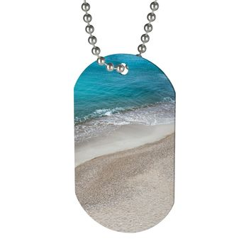 Boy's or girl's beach theme dog tag necklace