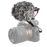 Camera Microphone 3.5mm Wired Condenser Sound Stereo Microphone for Computer Mobile Phone Recording Braodcasting Microfone