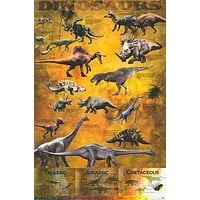 Dinosaurs Education Poster 24x36