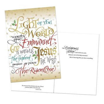 Image Art 16-count ''Light of the World'' Holiday Card Box Set