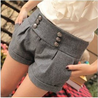 Autumn And Winter Double Breasted Shorts