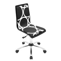 Printed Office Chair Black Circles