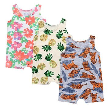 Baby Boys girls fashion Rompers Toddler colorful Jumpsuits Kids Tank Boy Jumper
