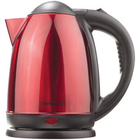 Brentwood 1.5 Liter Stainless Steel Electric Cordless Tea Kettle (red)