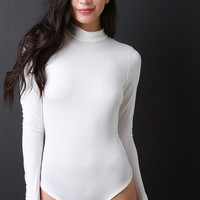 Jersey Knit Mock Neck Bodysuit