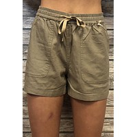 Day Out Shorts- Olive