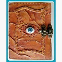 The All Knowing Eye Leather Latched  Journal