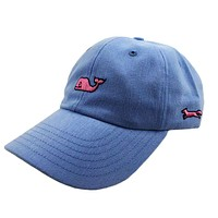 Whale Logo Baseball Hat in Light Blue w/ Pink Longshanks by Vineyard Vines