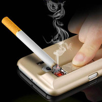 New Cell Phone Cases Electronic Cigarette Lighter Case For iPhone 6 6s 6SPlus Mirror PC Back Cover Protector