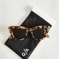 Vintage Inspired Big City Kitti Sunglasses in Tortoiseshell by Quay from ModCloth