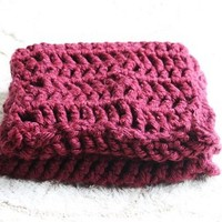 Crochet Infinity Scarf in Wine from Loveandthings Boutique