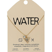 Water star sign charm necklace - Jewelry - View All New In   - What's New