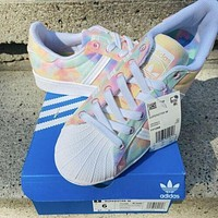 Adidas Superstar Multicolor / Tie Dye classic all-match shell-toe sneakers shoes