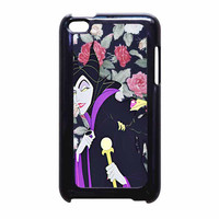 Malficient Disney Floral iPod Touch 4th Generation Case