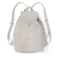 Classic Canvas Backpack Natural Grid