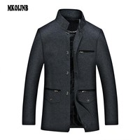 2018 Mens Spring Autumn Social jacket Wool Coat For Men Business jackets Casual luxurious Men  Top Quality