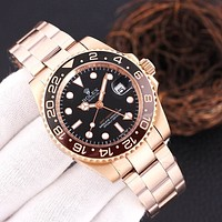 ROLEX Fashion Quartz Classic mechanical watch diamond men and women waterproof quartz watch