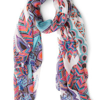 ModCloth Festival Feathers and Grace Scarf