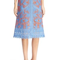 Tory Burch 'Whitney' Lace Midi Skirt | Nordstrom