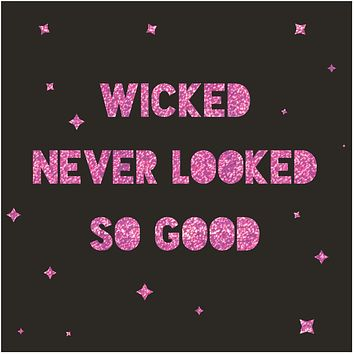 """Wicked Never Looked So Good Foil Party/Beverage/Cocktail Napkins   5"""" Square"""