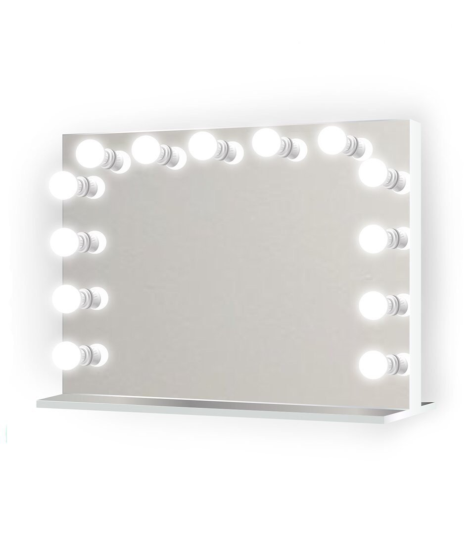 """Image of Monroe 31"""" x 25"""" Lighted Glam Vanity Mirror 