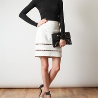 Browns fashion & designer clothes & clothing | ALEXANDER WANG | Embroidered Leather Pencil Skirt
