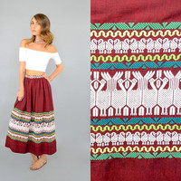 60's GUATEMALAN Embroidered Skirt